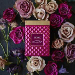 pretty pink gift package tea by newby