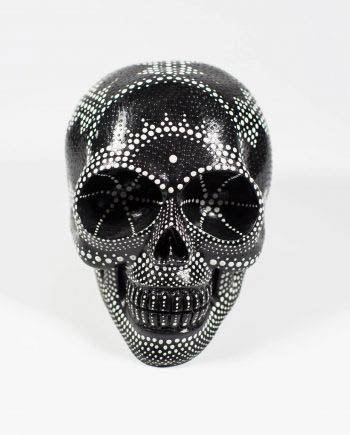 monochrome skull