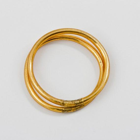Gold Leaf Mantra Bracelet 01