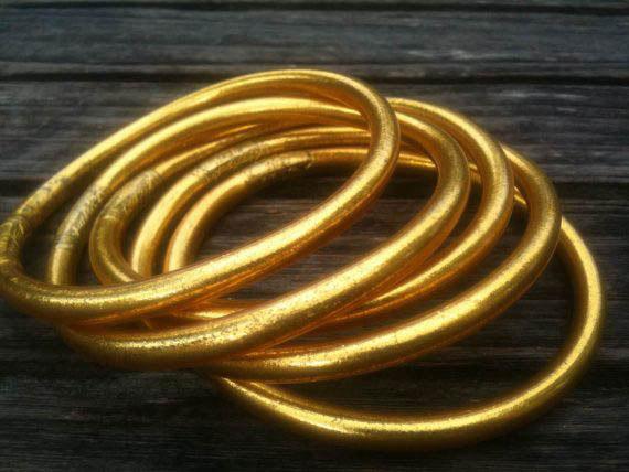 Gold Leaf Mantra Bracelet 03