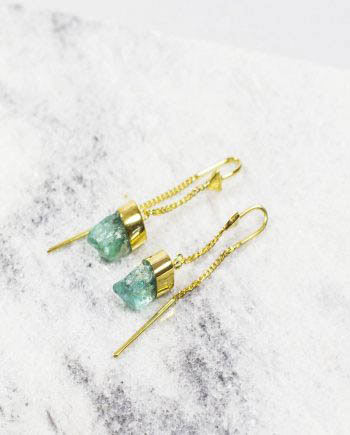 green_agate_pull_trough_earrings
