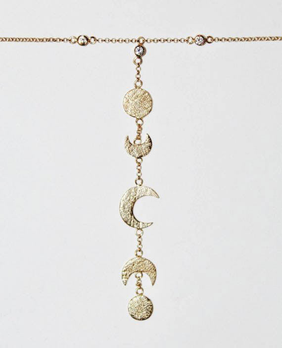 Moon Calendar Choker Necklace