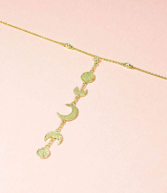 Moon Calendar Choker Necklace_1