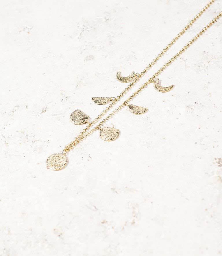 Moon Phases Necklace Gold _1