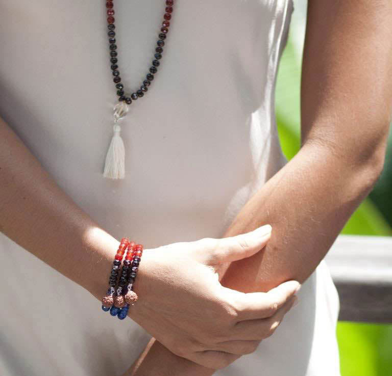 Seven Chakra Faceted Bracelet