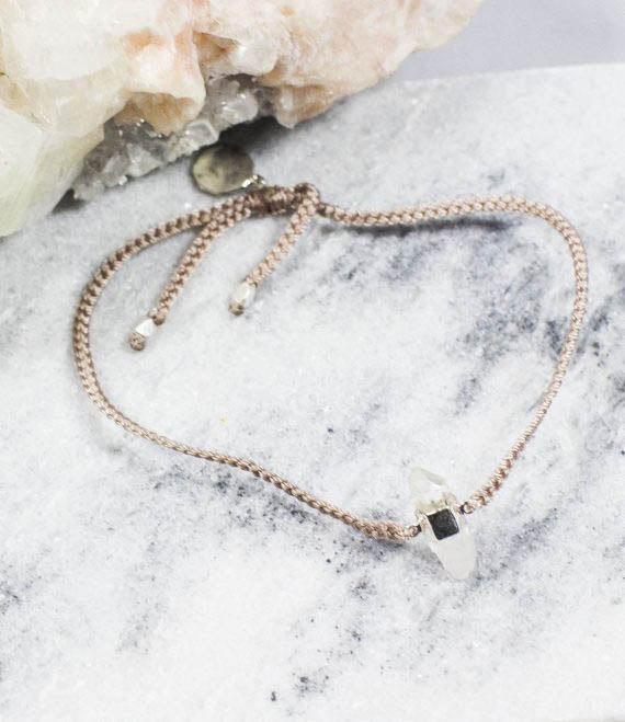 Dusty Pink Bracelet Quartz Silver