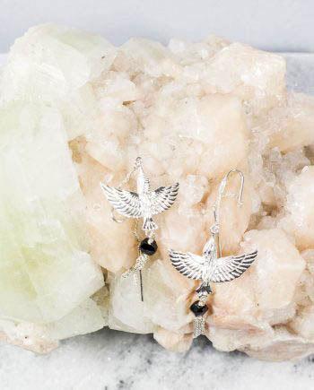 Bird Earrings Black Onyx
