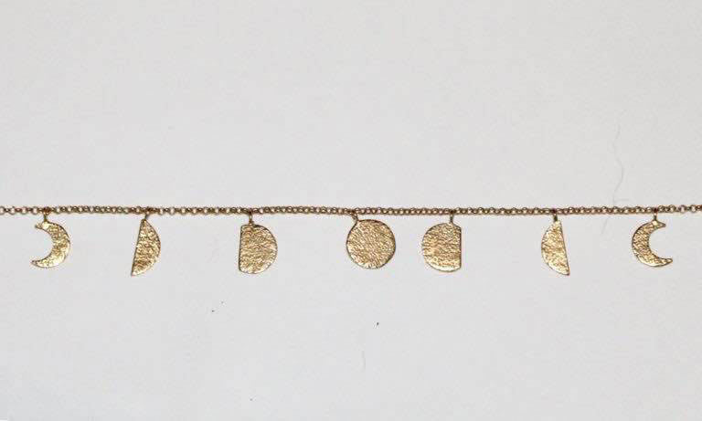 moon phases necklace gold