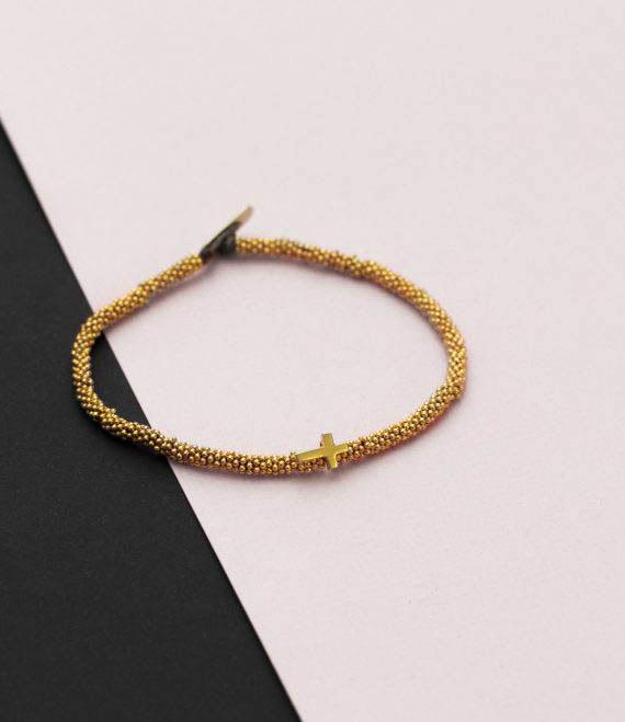 India Bracelet Cross Gold
