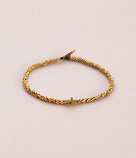 India Bracelet Cross Gold2