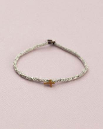 India Bracelet Cross Silver