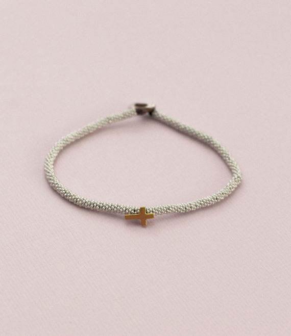 India Bracelet Cross Silver2