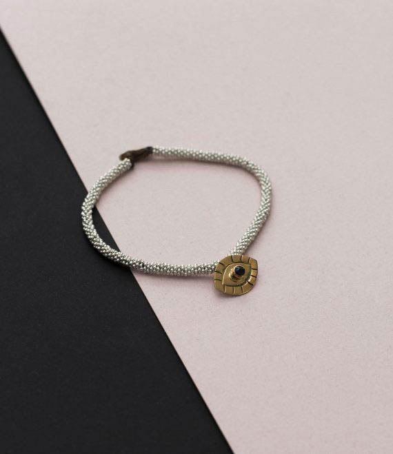 India Bracelet Evil Eye Silver_1