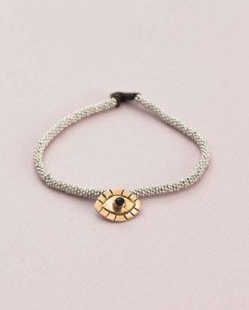 India Bracelet Evil Eye Silver