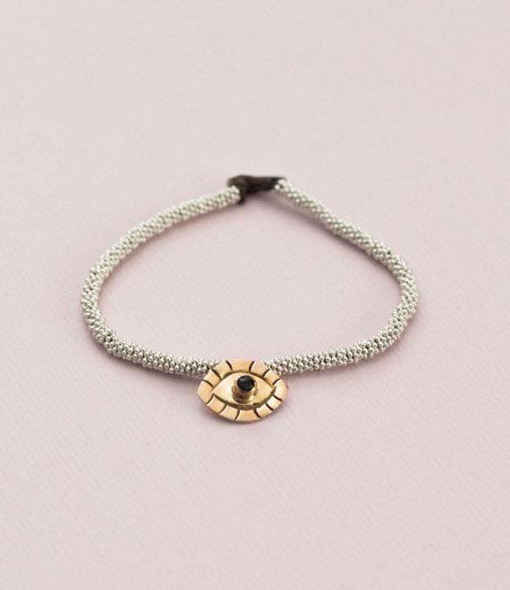 India Bracelet Evil Eye Silver_2