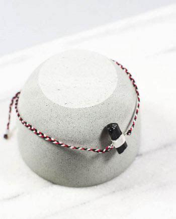 Tridatu Bracelet Black Tourmaline Silver