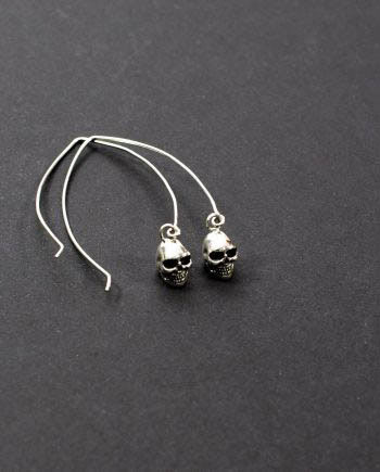 Skull Earrings Silver