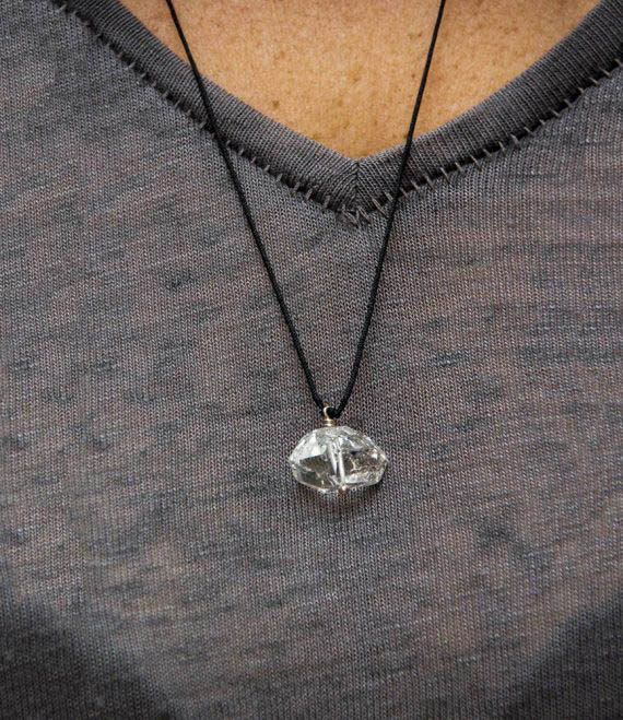 Herkimer Diamond String Necklace