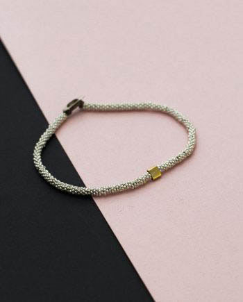 India Bracelet Cube Silver