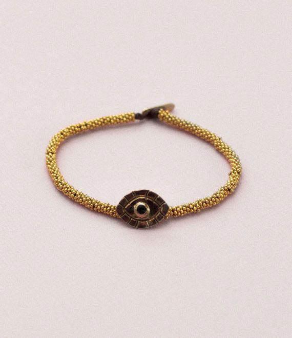 India Bracelet Evil Eye Gold 6
