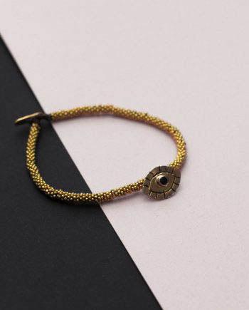 India Bracelet Evil Eye Gold
