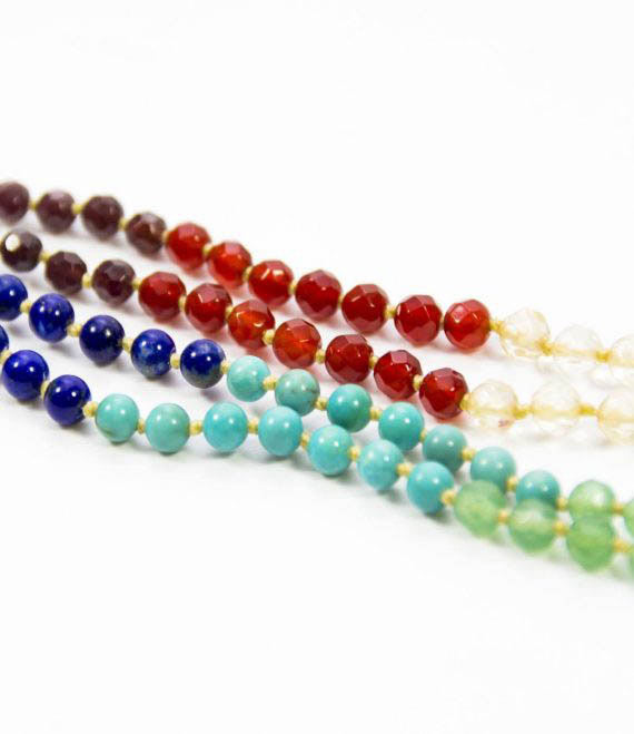 7 Chakra Mala Toddler Necklace