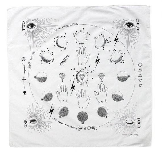 tarot cloth white