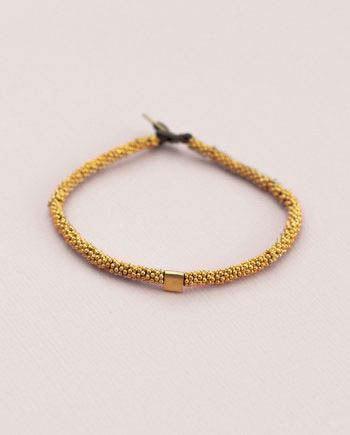 India Bracelet Cube Gold