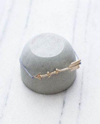 Lovers Arrow Bracelet Grey Silver