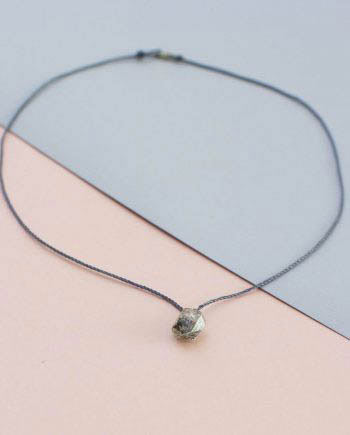 Herkimer Diamond Grey String Necklace