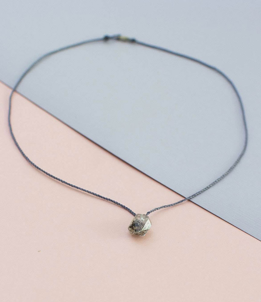 Herkimer diamond grey string necklace anna michielan house of herkimer diamond grey string necklace aloadofball Image collections