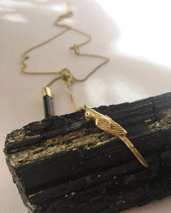 charm necklace parrot tourmaline