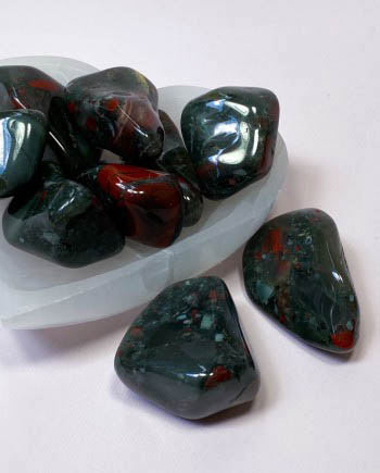 bloodstone meditation stone