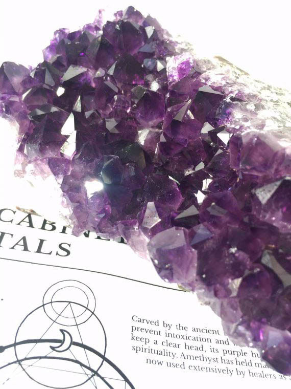 Deep Purple Amethyst Cluster No1 01