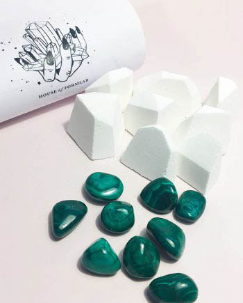 Crystal Magick Shower Steamer Focus Malachite Lemon Peppermint