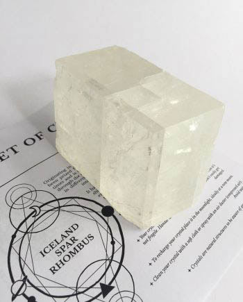 Iceland Spar Rhombus Optical Calcite