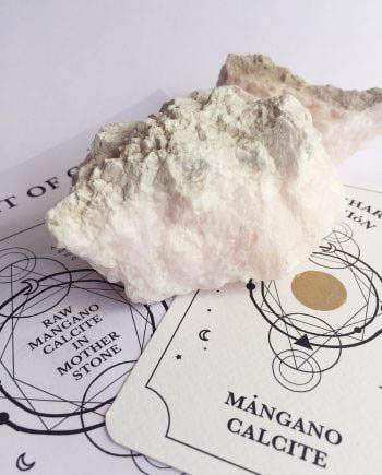 Mangano Calcite in Mother Stone