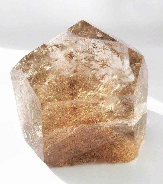 Large Golden Rutilated Quartz Point No2 02