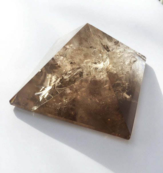 Sacred Geometry Smokey Quartz Crystal Pyramid No1 02