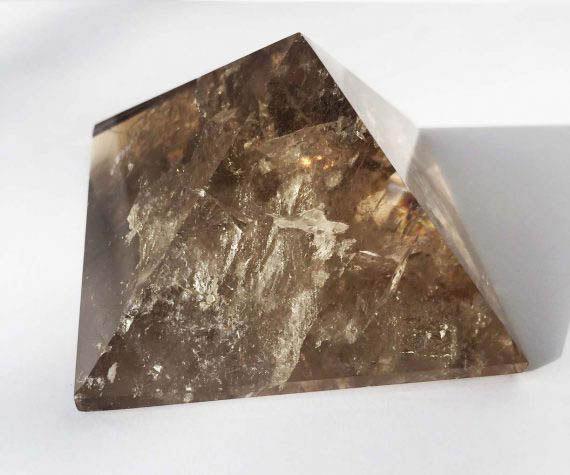 Sacred Geometry Smokey Quartz Crystal Pyramid No1 03
