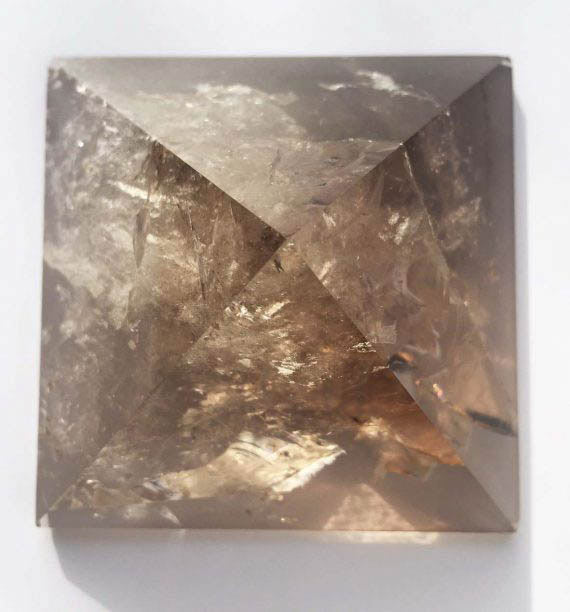 Sacred Geometry Smokey Quartz Crystal Pyramid No1 04