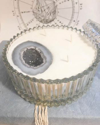 crystal magick candle