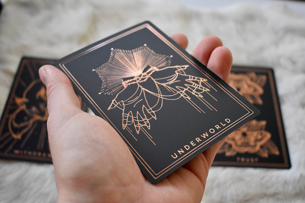 The Threads of Fate Oracle Cards // Black + Rose Gold Edition