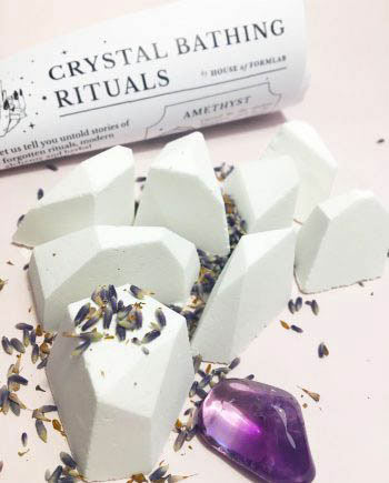 Crystal Magick Shower Steamers Amethyst Lavender Juniper