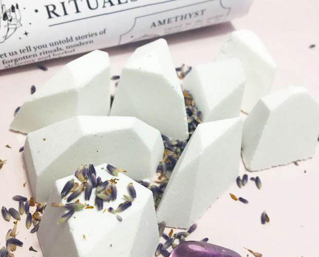 Crystal Magick Shower Steamers Amethyst Lavender Juniper