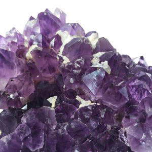 Amethyst Cluster with Calcite Palm Crystal