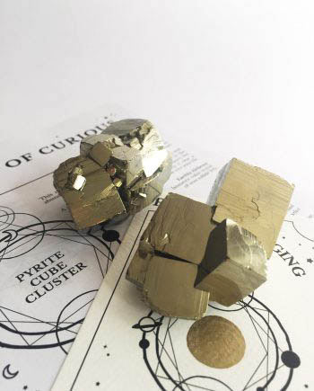 Pyrite Crystal Cube Clusters
