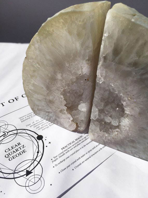 House of Formlab Quartz Geode Bookends 01