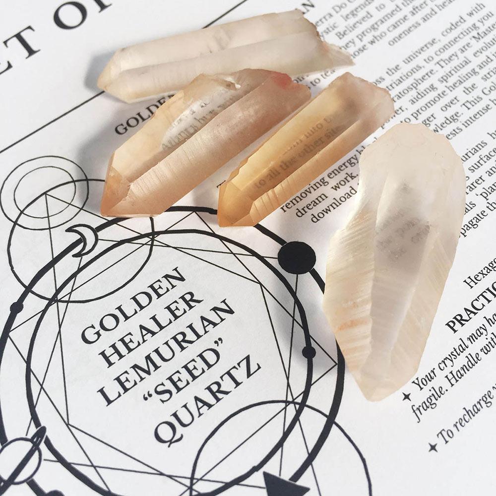 Golden Healer Lemurian Quartz Points // + Rare Seed Points