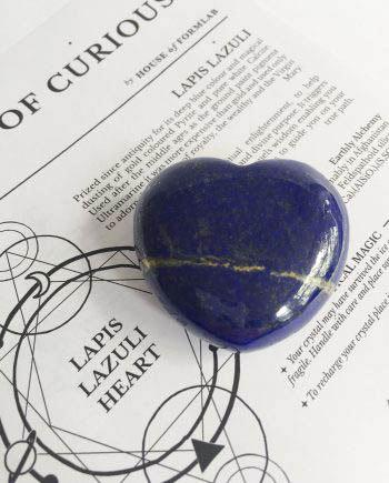 Lapis Lazuli Crystal Heart